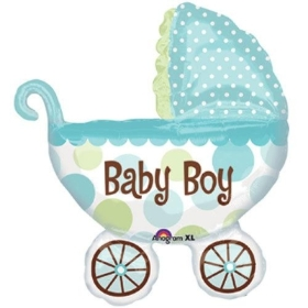 Baby Boy Large pram balloon