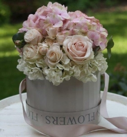 Hydrangea Beauty Hat Box